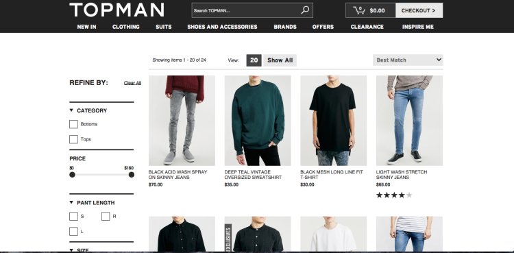 Taking Inspiration From Topman's Website