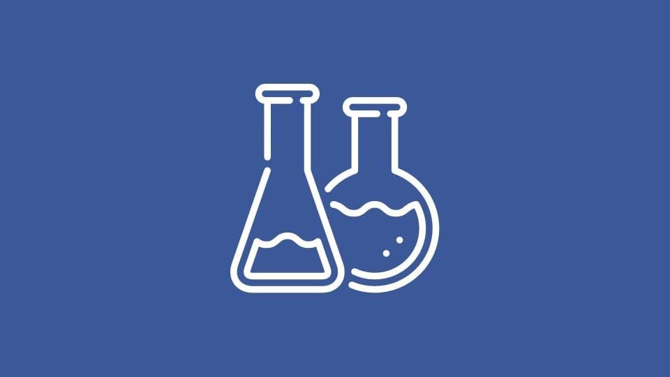 Beaker and chemistry icon