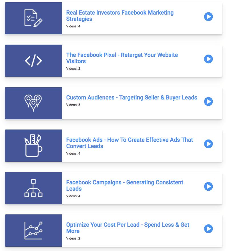 Facebook course playlist screenshot