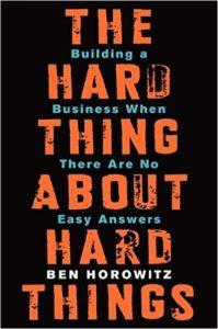 Hard Things About Hard Things Book Cover