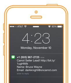 SMS notification feature