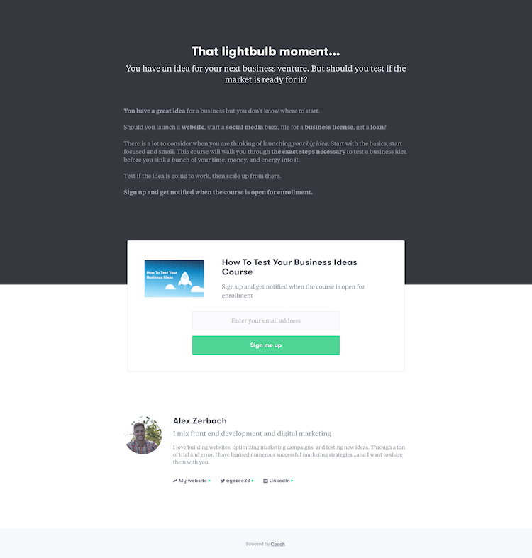 landing-page screenshot