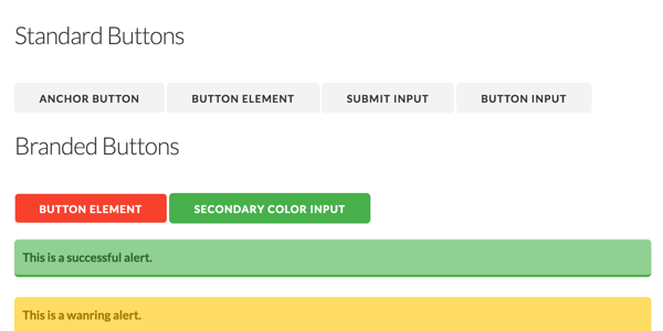 Modest CSS Example